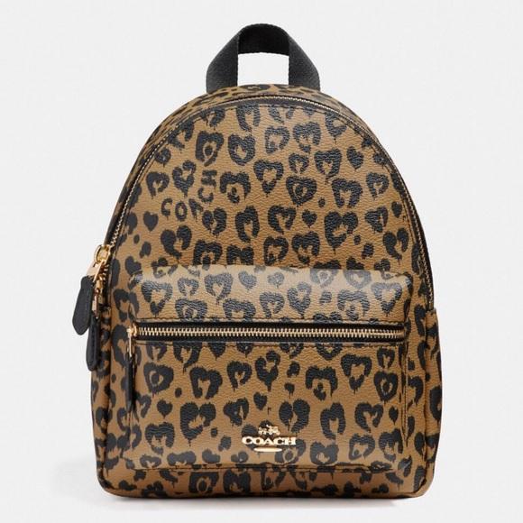 Coach Bags   Mini Charlie Backpack In Wild Heart Leopard   Poshmark c3f2659202